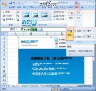 用Excel 2007中的裁剪工具修剪图片