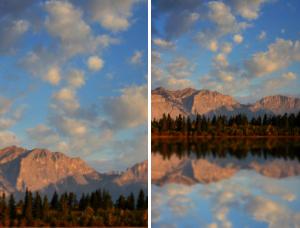倒影效果,给风景照片制作水波倒影效果