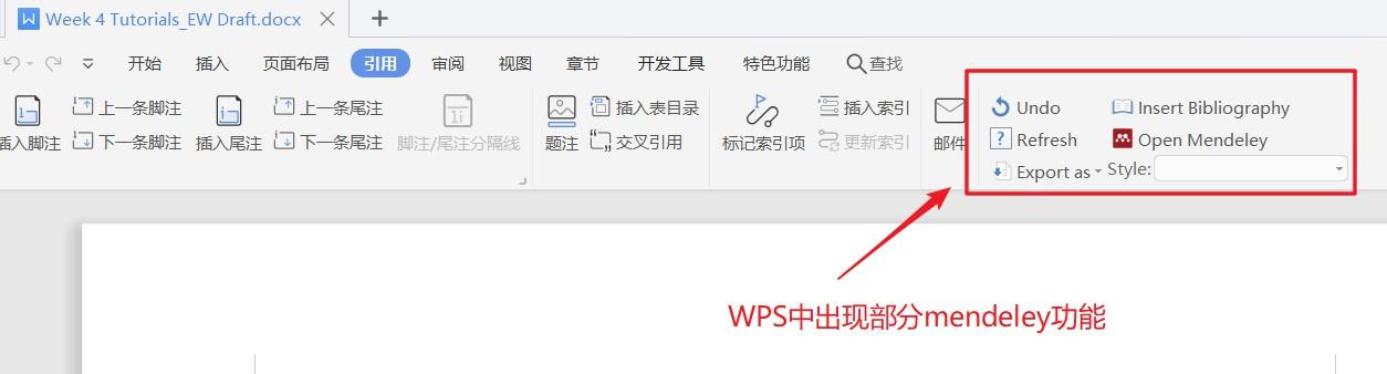 word和wps安装mendeley插件