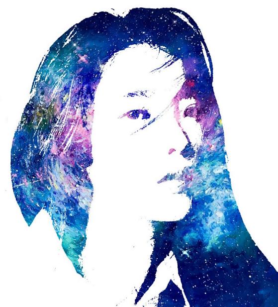 星空头像,把人物制作浪漫的蓝色星空头像
